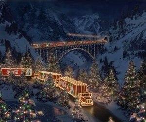 christmas, coca cola, and winter image