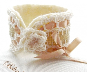 bracelet, craft, and crochet image