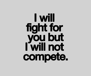 love, quotes, and fight image