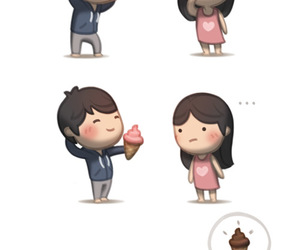 love, couple, and ice cream image