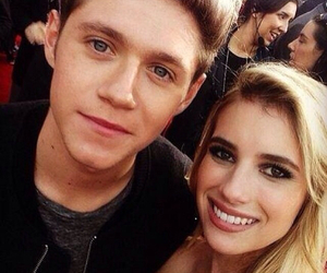 niall horan, one direction, and emma roberts image