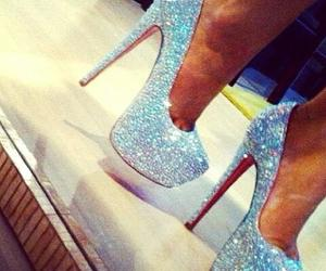 heels, shoes, and glitter image