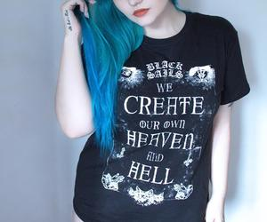 beauty, blue, and goth image