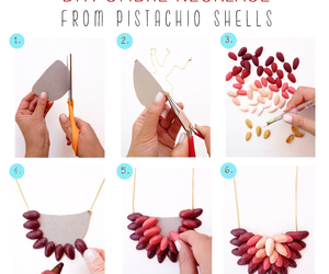 diy, necklace, and pistachio image