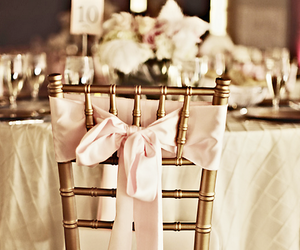 chair, bow, and pink image