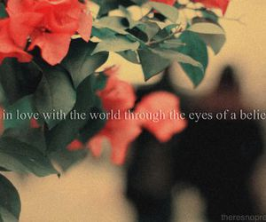 eyes, flowers, and believe image