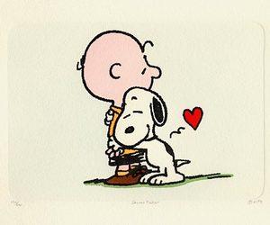 snoopy, charlie brown, and hug image