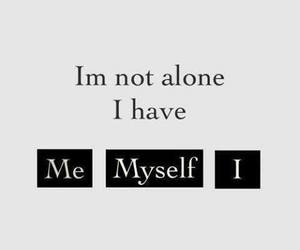 me, myself, and alone image
