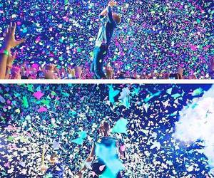 coldplay, color, and concert image