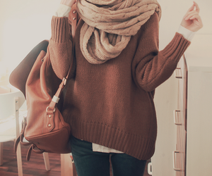 brown, denim, and invierno image