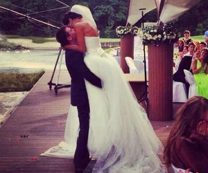 love, wedding, and kiss image