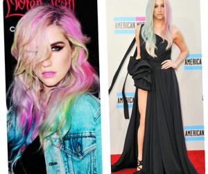 hair, pretty, and colorful image