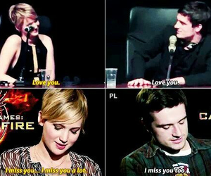 josh hutcherson, love, and Jennifer Lawrence image