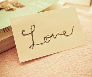 love, pastel, and book image