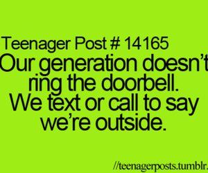 call, teenager post, and doorbell image
