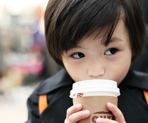 asian, baby, and coffee image