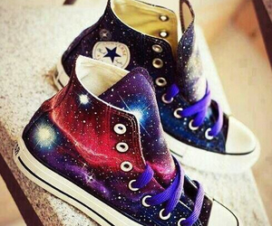 colorful, galaxy, and converse image