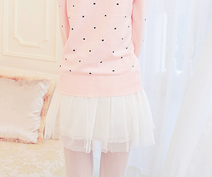 asian fashion, clothing, and dots image