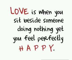 love, happy, and quote image