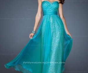 dress, strapless, and evening image