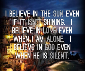 quote, god, and believe image