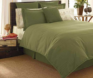 elegant, green, and bed linens image