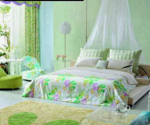 bed linens, eco, and green color image