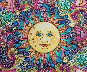 sun, hippie, and peace image