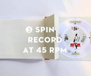 music, wedding invitation, and paper record player image