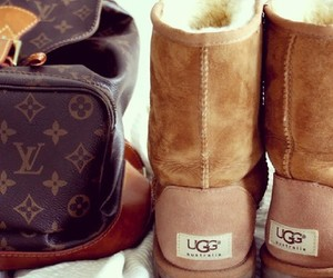 fall, uggs australia, and Louis Vuitton image