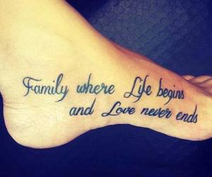 love, family, and tattoo image