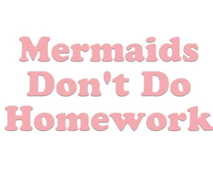 mermaid, homework, and grunge image