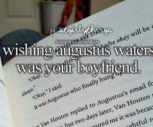 book, augustus waters, and okay image