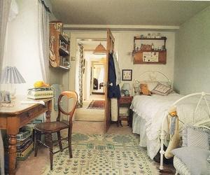 bedroom, vintage, and scan image