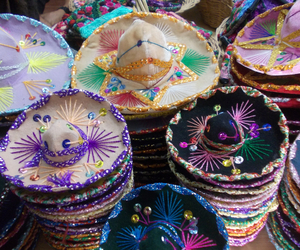 hats, mexico, and tulum image