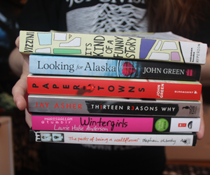 looking for alaska, books, and paper towns image