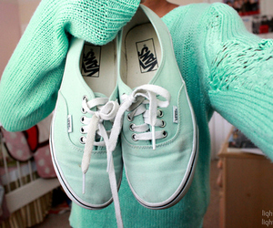 vans, shoes, and sweater image