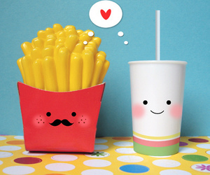 aww, fries, and cute image
