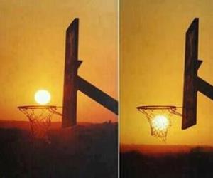Basketball, nature, and sun image