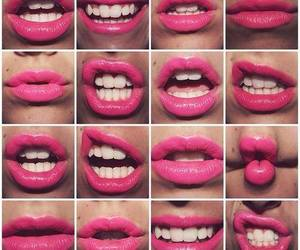 lips, pink, and smile image