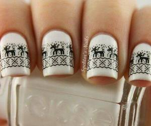 nails, white, and christmas image