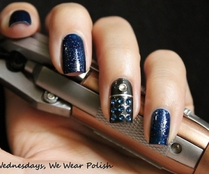 50, doctor who, and nail art image