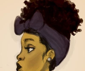 african american, beautiful, and black lipstick image