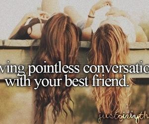 best friends, friends, and conversation image