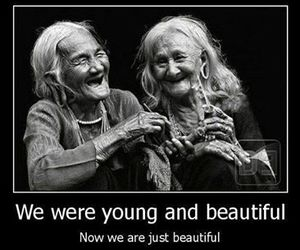 beautiful, young, and old image