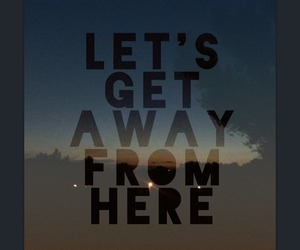 away, here, and life image