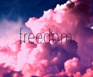 freedom, pink, and sky image