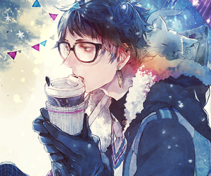 anime, boy, and winter image