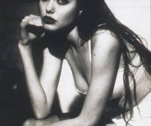 Angelina Jolie, b&w, and beautiful image