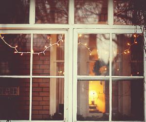 light, window, and christmas image